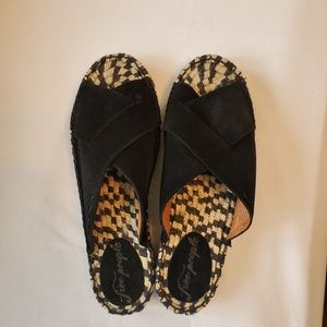 Free People Black Tuscan Espadrille in a size 39